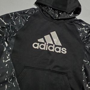 Adidas Black & White Boys large Hoodie Sweater